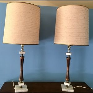 Other - Pair of Vintage Mid Century Modern Original Lamps